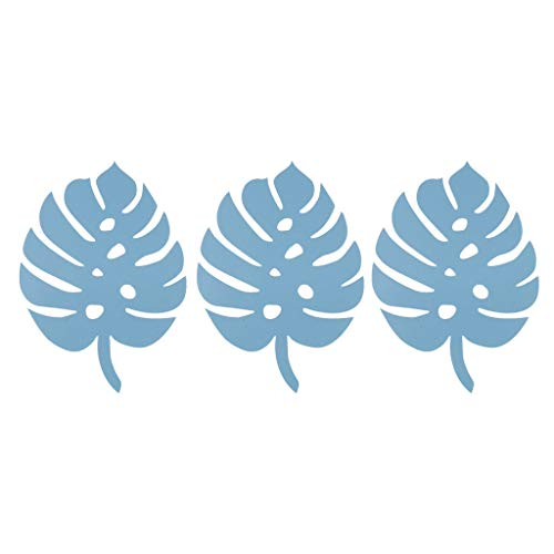 Paper Monstera Palm Leaves Backdrop Wall DIY Birthday Wedding Party Decor |Color - Monstera -Dark Blue| -