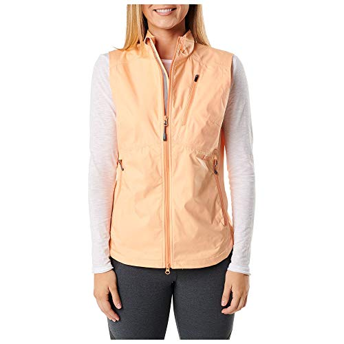 5.11 Tactical 65001398M Chaleco rompevientos Cascadia para mujer Melocotón, mediano
