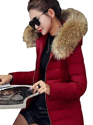Delle Della Collare Pelliccia Sicurezza Di Finto Zip Trapuntata 1 Caldo Piumino Breve Addensare Donne Puffer x5EqHHIn