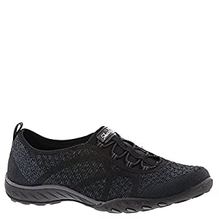 Skechers Women's Relaxed Fit Breathe Easy Fortune-Knit Slip-On,Black,US 9.5 W (B072B5SLVX) | Amazon price tracker / tracking, Amazon price history charts, Amazon price watches, Amazon price drop alerts