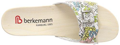 Femme Mules Hamburg 041 Blüten Berkemann weiß Multicolore gelb F6E5f5xRqw