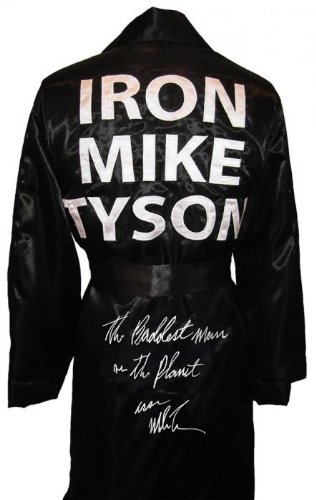 """Mike Tyson Signed Robe """"The Baddest Man on The"""