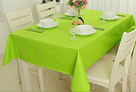 KN Mantel Mesa Rectangular Color Liso Verde para Comedor Cocina o ...