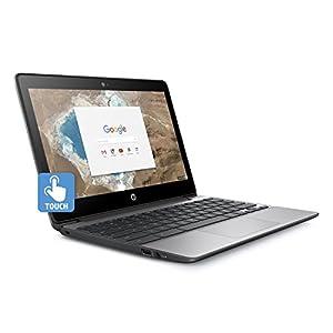2017 HP 11 inch Touchscreen Chromebook (Intel Celeron N3060, 4GB RAM, 16GB eMMC with Chrome OS) Black, (Certified Refurbished)