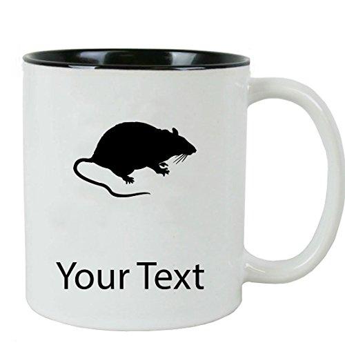 Mug White Rat - Personalized Custom Rat 11 oz White Ceramic Coffee Mug with White Gift Box