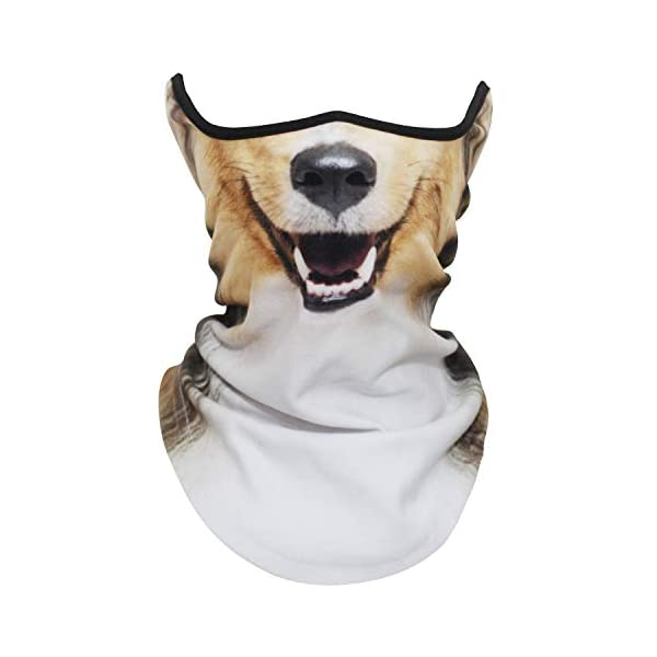 AXBXCX 3D Animal Neck Gaiter Warmer Windproof Face Mask Scarf for Ski Halloween Costume 1