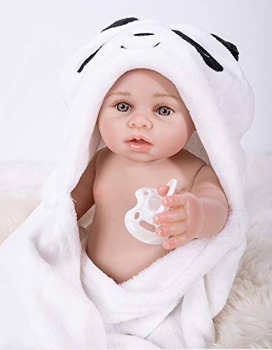 Wamdoll 17 inch Rare Alive Reborn Baby Doll That Looks Real,Cute Girl Doll Crafted in Vinyl Like Silicone Full Body