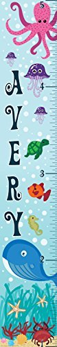 Mona Melisa Designs Customized Ocean Whale Avery Growth Chart Decorative Wall Sticker [並行輸入品]   B0785RQVRF