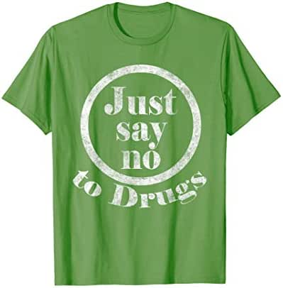 Retro 80's Just Say No to Drugs T-Shirt 1980's War on Drugs