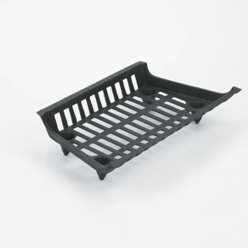 Copperfield 61302 23 Inch One Piece Cast Iron Grate, 23 Inch Front x 18 Inch Back x 12 Inch Deep, Leg Height 2 1/8 Inch, 19lbs