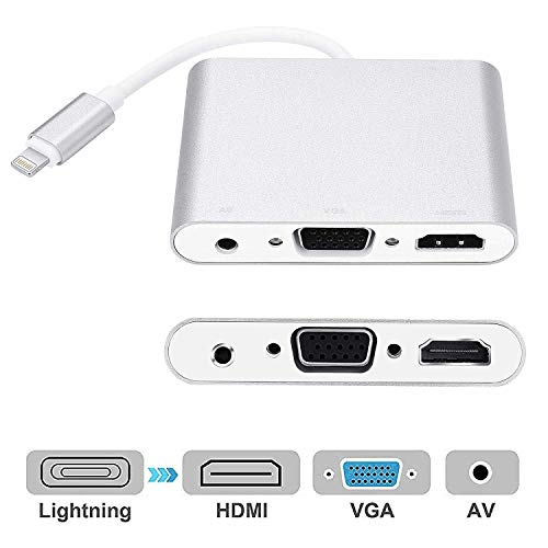digital av adapter for iphone 5 - 8