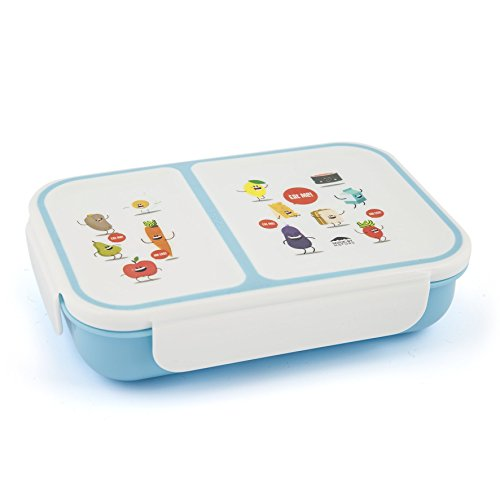 Small Bento Box Leakproof Lunch Boxe For Kids | 2 Compartments Lunch Container With Kid Friendly Easy Open & Removable Lid | This Lunch box Is A Perfect Match For The Your Young Ones. (Bento Single Box)