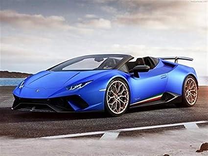 Amazon Com Lamborghini Huracan Performante Spyder 2019 Poster 18 X