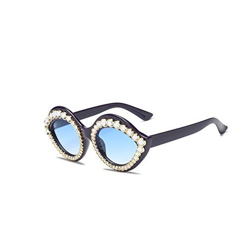 8802002284 AiweijiaWomens Fashion Lips Gafas de sol estilo Cat Eye Mod con diamantes  de imitación Bueno wreapped