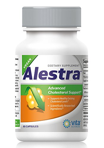 (Cholesterol Support Supplement with Niacin, Plant Sterols, Policosanol, Guggul Extract and Garlic. Vegan, Naturally Maintains Healthy Cholesterol Levels and Powerfully Promotes Heart Health - Alestra)