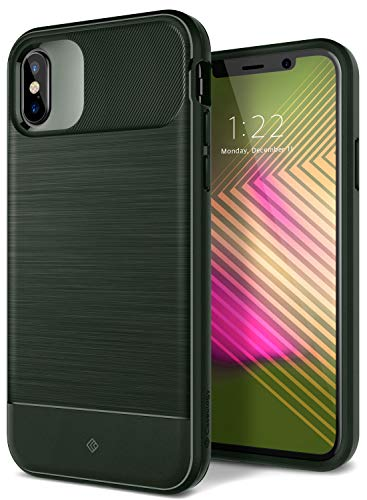 Caseology Vault for Apple iPhone Xs Case (2018) / for iPhone X Case (2017) - Rugged Matte Finish - Pine Green