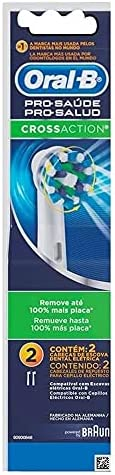 Refil Para Escova Elétrica Oral-B Pro-Saúde Cross Action- 2 Unidades, Oral-B