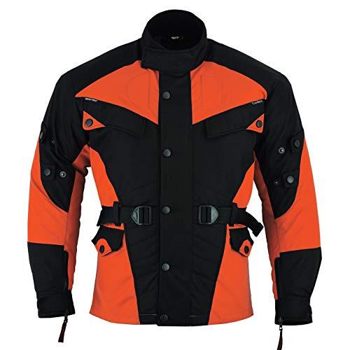 German Wear Textil Motorradjacke Kombigeeignet, 62/5XL, Orange