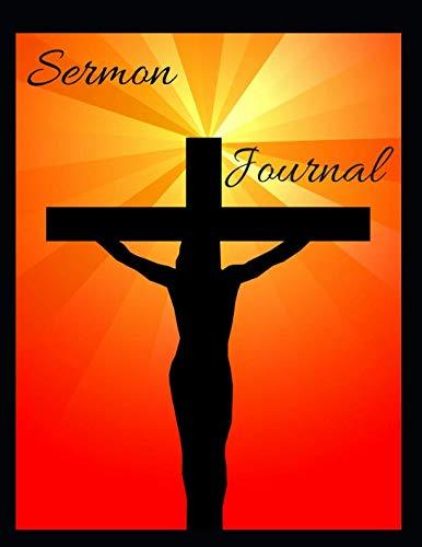 Sermon Journal: Silhouette of Jesus on the Cross themed Sermon Journal 8.5