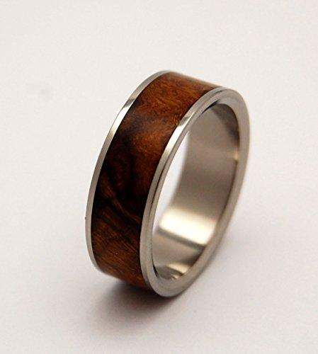 Titanium hand-made wedding rings - DESERT ROSE