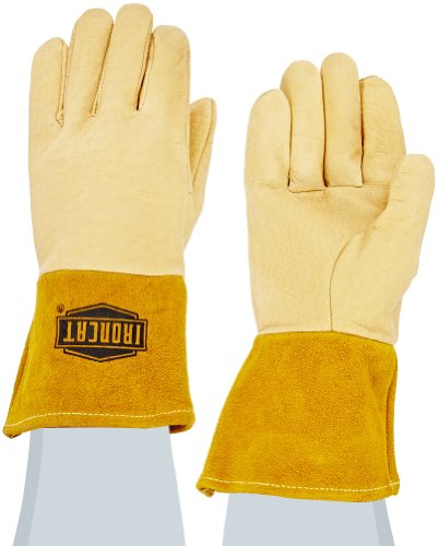 Price comparison product image West Chester 6021 Grain Pigskin Leather Heavyweight Top MIG Welding Glove,  Small,  Natural