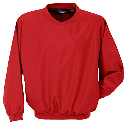 Tri-Mountain 2500 Microfiber Windshirt with Nylon Lining, Red, X-Large - 100% Nylon Fibers