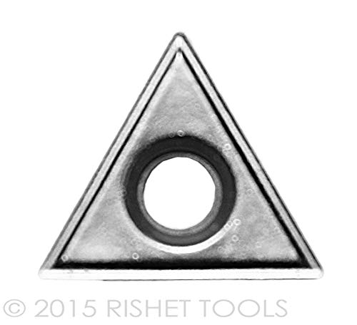RISHET TOOLS 11596 TPMR 321 C5 Multi Layer TiN Coated Solid Carbide Inserts Pack of 10