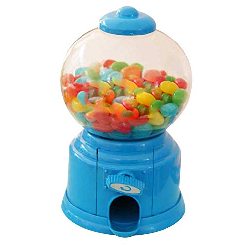 Wandofo - Dispensador de Bolas de Chicle con Forma de Mini máquina de Caramelos, Azul