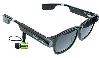 Ovtech Smart Glasses V1 Handmade Sunglasses With Bluetooth V4.0 EDR Chip 8G Camera Mic GPS Flash Light+Battery For Smart Phone