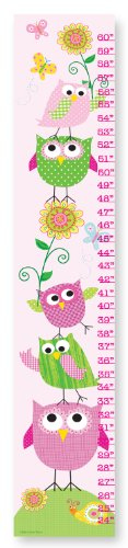 UPC 049182010926, The Kids Room by Stupell Pink and Green Owls with Smiling Snail Growth Chart