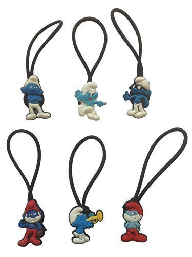 Smurfs Hairband Ponytail Holder 6 Pcs Set #1