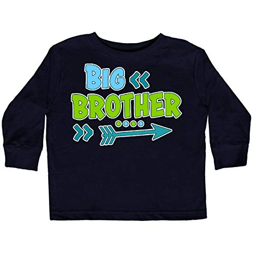 inktastic - Big Brother with Arrow Toddler Long Sleeve T-Shirt 2T Black 31837