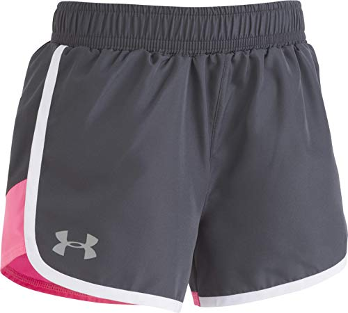 Under Armour Girls' Little Fast Lane Short, Stealth Gray, 6X