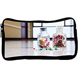 Rikki Knight Medical Capsules and Tablets in Bottle Neoprene Pencil Case (dky-Neo-pc8871)