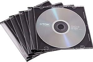 Fellowes 98316 - Pack de 25 Cajas Estuche para CDs/DVDs Slim, Transparente: Amazon.es: Informática