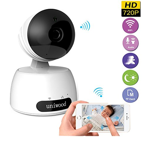 uniwood 720P Baby Monitor Wireless, Pan Tilt Surveillance Ca