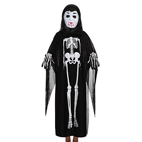 Tuscom Long Sleeve Ghost Cloak for Women Men +Mask+Gloves Halloween Cosplay Set Costume (7 Style) (F) -