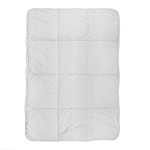 Box Quilted Toddler Comforter, Grey