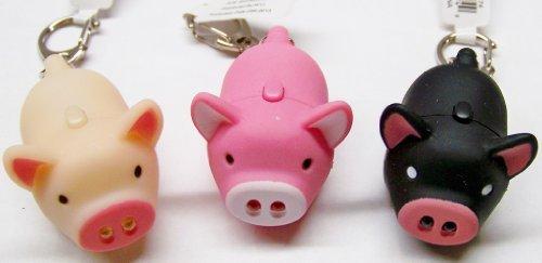 Oink Piggy Light & Sound Keychains - 3 Pack