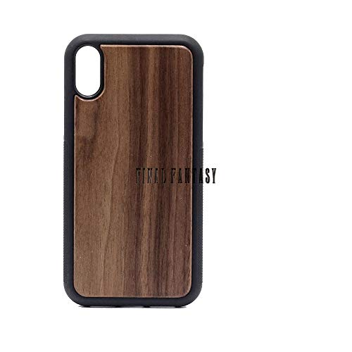 (Logo Final Fantasy - iPhone XR Case - Walnut Premium Slim & Lightweight Traveler Wooden Protective Phone Case - Unique, Stylish & Eco-Friendly - Designed for iPhone XR)