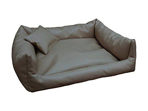 Cuscino Rex Cuccia Letto Piazza in Eco Pelle S 50/X 70/colore bianco divano per cani