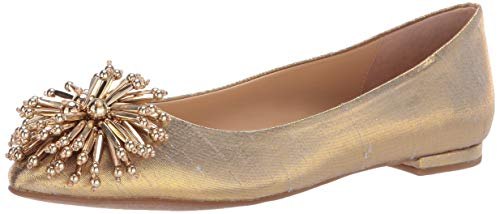 Katy Perry Women's The Rayann Ballet Flat, Gold, 7.5 M M US