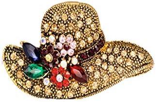 BEE&BLUE ブローチ ピン 帽子 美しく 輝く 寄り添う キラキラ ブローチ 领针 ブローチ両用 誕生日 結婚式