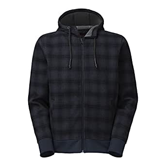 The North Face Outbound Full Zip Hoodie Mens Cosmic Blue Plaid S