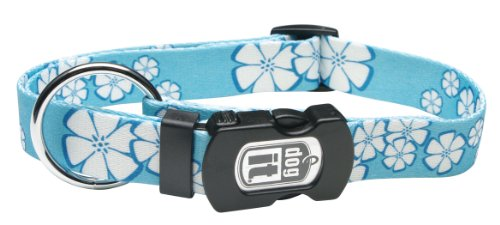 - Dogit Style Aloha X-Large Adjustable Nylon Collar with Plastic Snap and ID Plate, 1-Inch by 18-Inch- 26-Inch, Blue