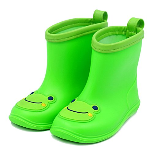 Chadstone Kids Cute Cartoon Rain Boots Toddler Boys Girls Waterproof Anti-skidding Rain Shoes - Green - Kids Chadstone