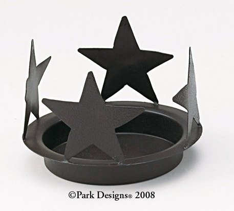 Star Candle Pan - Park Designs Black Star Candle Pan