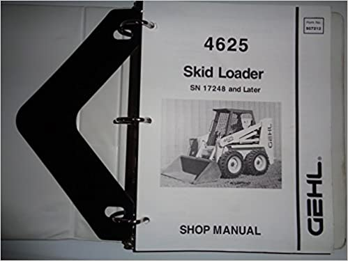 Gehl SL4625 4625 Skid Steer Loader Service Shop Repair