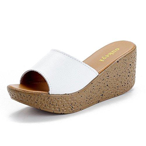 Pantofole per Abbigliamento Femminile Bianca IANGL Estivo zBdSq1Bw