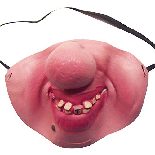 combnine Funny Half Face Big Fat Nose Teeth Latex Mask Clown Mask Fancy Dress Party Costume Halloween Party Decoration